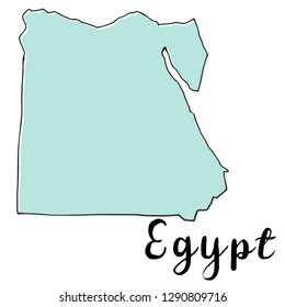 Hand drawn of Egypt map, vector illustration