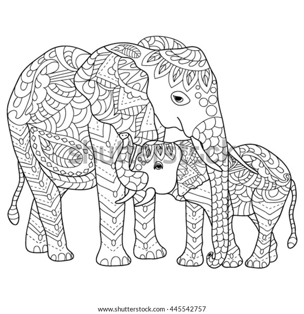 Elephants free to color for kids - Elephants Kids Coloring Pages | 620x600