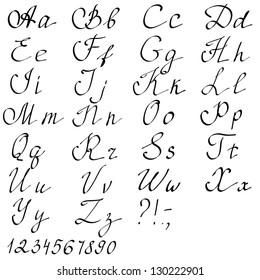 Old english script images stock photos vectors shutterstock hand drawn english alphabet letters vector illustration thecheapjerseys Image collections