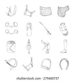 Hand drawn equestrian signs.