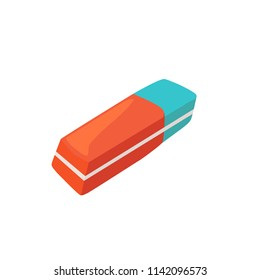 Hand drawn eraser isolated on white background. Vector illustration.