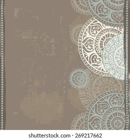 Hand drawn ethnic   seamless border. All objects are conveniently grouped  and are easily editable.