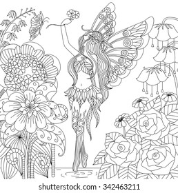 Fairy Coloring Book Images, Stock Photos & Vectors ...