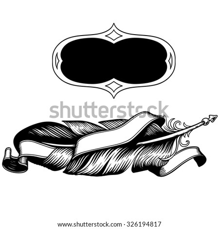 06df247ca Hand drawn feathers set on white background   tape. Angel or bird wings  abstract sketch isolated vector illustration - Vector