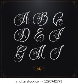 Hand drawn fineart calligraphy tattoo font set