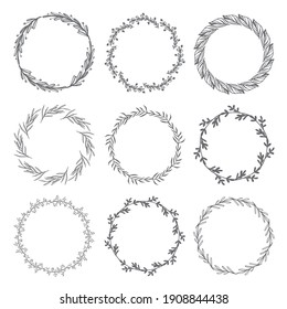 Hand drawn floral ornament collection Premium Vector