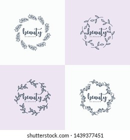 hand drawn floral ornament editable master files