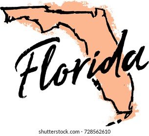 Hand Drawn Florida State Sketch
