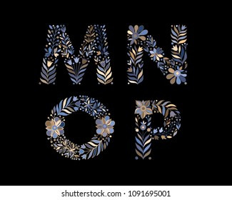 500 M Colorful Flower Letter Pictures Royalty Free Images Stock