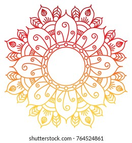 Hand drawn flower mandala. Vector illustration. Colorful Mandala. Oriental pattern. Ethnic tribal ornaments.