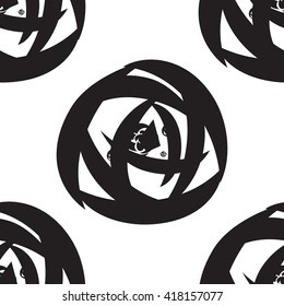 Hand drawn flower seamless pattern. Floral stylish monochrome background. Vector modern repeating texture