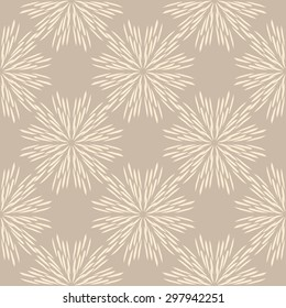 Hand drawn  flowers on coffee-colored background, vintage tile design, seamless vector pattern, print, lace