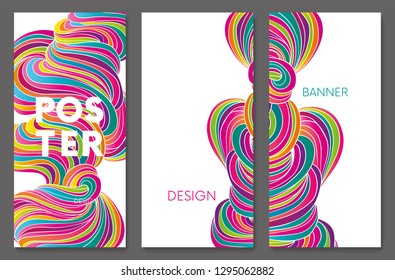 Hand drawn fluid shape design. Artistic graphic element. Vector illustration for a postcard or a poster. Eps10 vector.