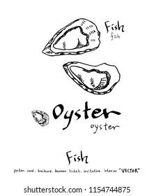 Hand drawn food ingredients - sea food menu illustrations - vector