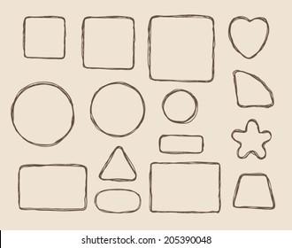 hand drawn form elements