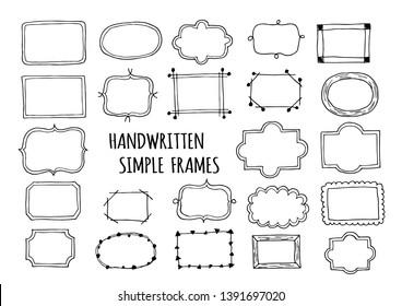 Hand drawn frame illustration set