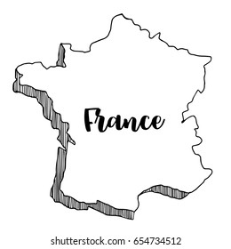Map Of France Drawing.Map France Sketch Stock Illustrations Images Vectors