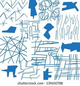 hand drawn geometric background vector seamless