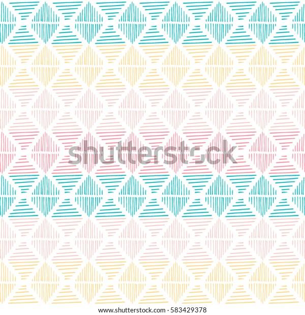 Hand drawn geometric seamless pattern