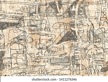 Hand drawn Graffiti Abstract Background. vector illustration