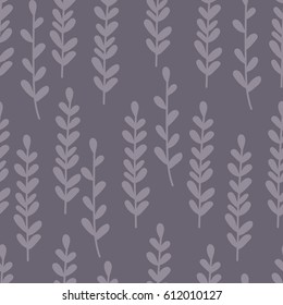 Hand drawn graphic leaves seamless pattern. Nature vector background. Wrapping paper.
