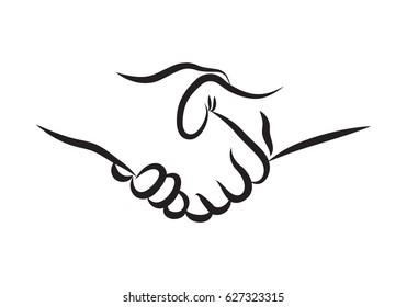 Hand Drawn Handshake icon