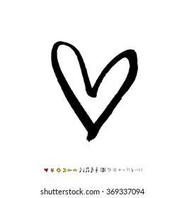 Hand drawn heart illustration - vector