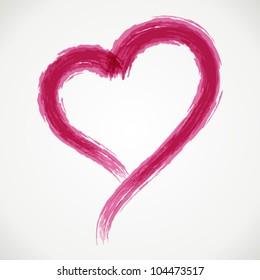 Hand drawn heart shape. Vector design element eps 10.