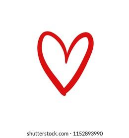 Hand Drawn Heart Symbol Love Expressive Stock Vector Royalty Free