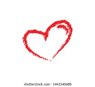 Hand drawn hearts with brush. Heart love design illustration concept for template.