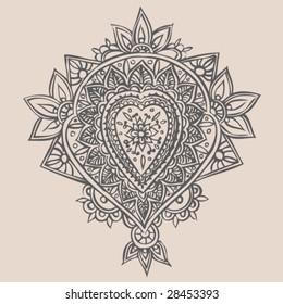 Hand Drawn Henna Illustration