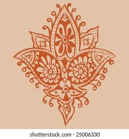 Hand Drawn Henna/Mehndi Design