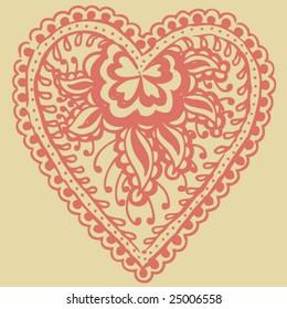 Hand Drawn Henna/Mehndi Illustration