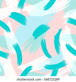 Hand drawn hipster stylish pattern Pastel colored modern grange shapes in vector art wallpaper print . Trendy fantasy freehand composition . Speed style natural painting .