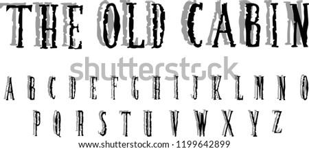Hand Drawn Horror Alphabet Halloween Font Stock Vector (Royalty Free