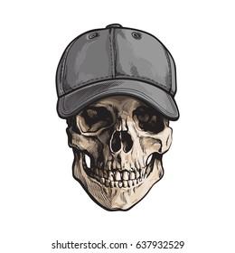 Hand Drawn Baseball Hat Images, Stock Photos & Vectors