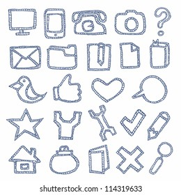 Hand Drawn Icons Set
