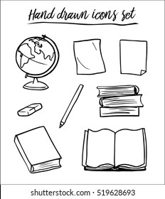 Hand drawn icons vector set