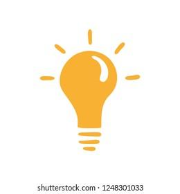 Hand drawn idea symbol