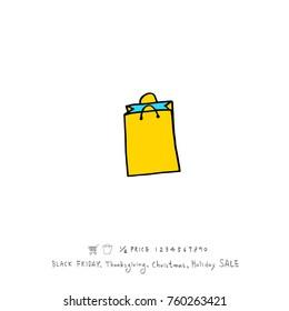 Hand drawn illustration / Black Friday sale - vector