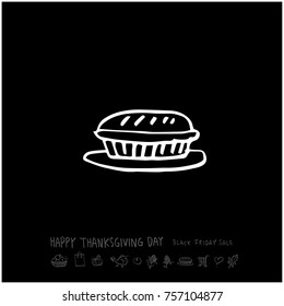 Hand drawn illustration / Happy Thanksgiving Day - vector