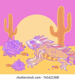 Handdrawn Detailed Vector Illustration Desert Animal Stock Vector