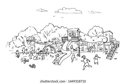 Drawing Of Children Playing Football | contoh soal pelajaran puisi dan  pidato populer