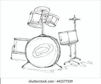 Royalty Free Drum Sketch Images Stock Photos Vectors Shutterstock
