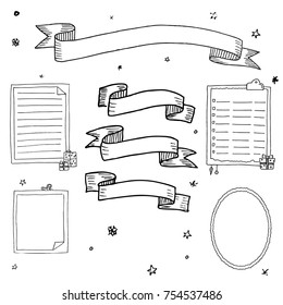 Hand drawn inks Christmas frames
