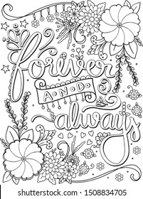 Adult Coloring Pages Quotes Hd Stock Images Shutterstock