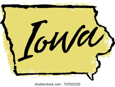 Hand Drawn Iowa State Design