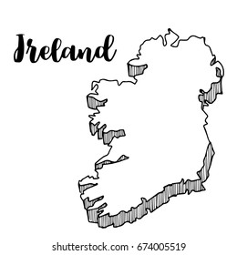 Sketch Map Of Ireland.Ireland Sketch Stock Vectors Images Vector Art Shutterstock