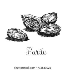 Hand drawn karite