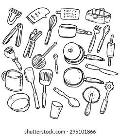 hand drawn kitchen utensil